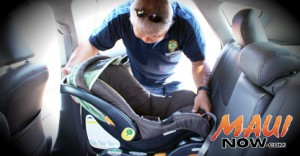 Car seat Inspection. Photo by Wendy Osher.