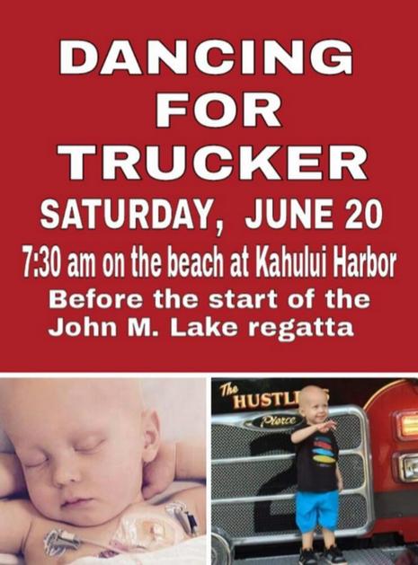 Dancing for Trucker event flyer.