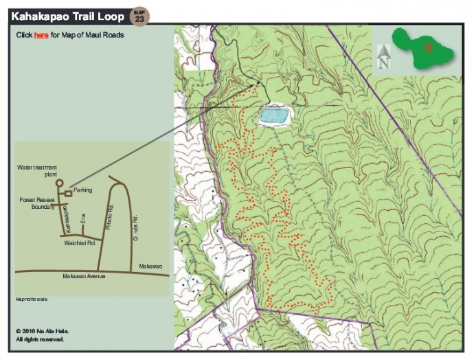 Kahakapao Loop Trail. Map courtesy Hawaiʻi Department of Land and Natural Resources.