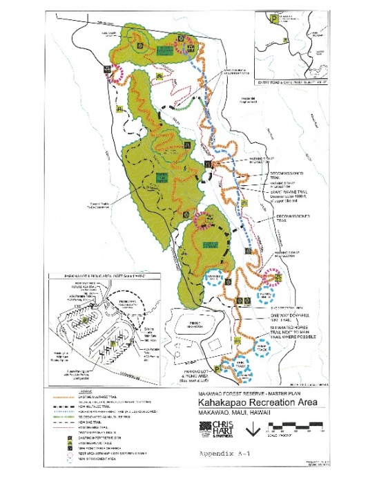 Kahakapao Recreational Area. Image map courtesy Chris Hart & Partners via Draft EA and EISPN.
