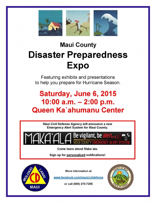 Maui disaster expo event flyer. Image courtesy: County of Maui.