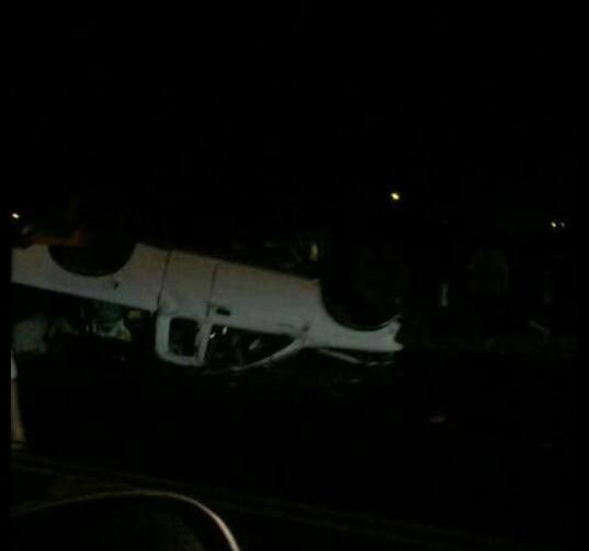 Mokulele Highway traffic accident, 6/20/15. Photo credit: Toya Ramos.
