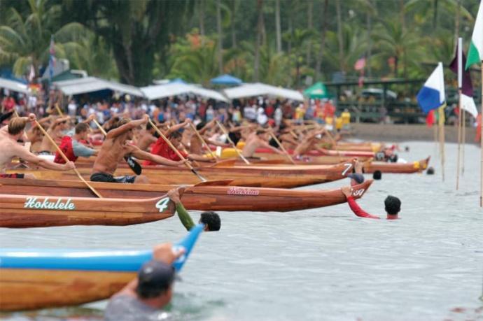 Canoe racing.  Courtesy photo via HCRA by: Ropati Hebenstreit.