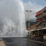 VIDEO UPDATE: Wailuku Water Main Break, Traffic Accident Main Street