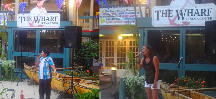 Wharf Cinema Fourth of July karaoke winners. Courtesy photo.