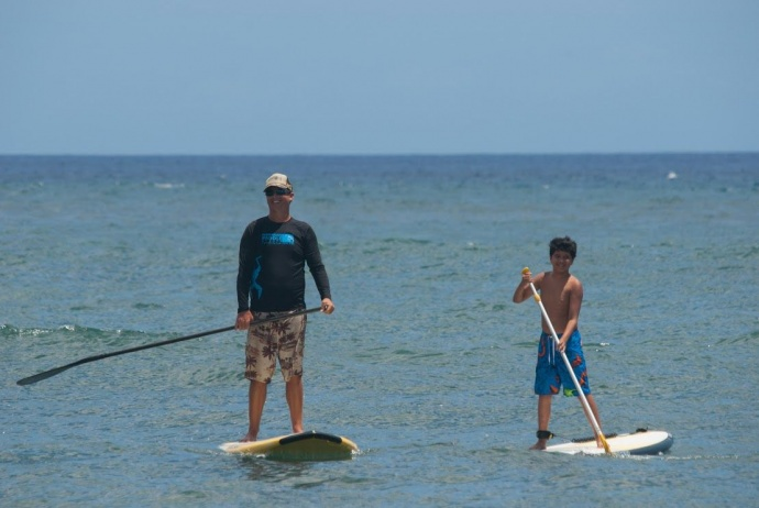 HPS Instructor John Hess and MYFS client Maicah Waikiki