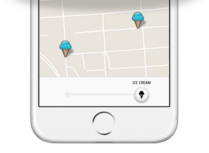 Uber app. Courtesy photo.