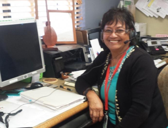 Haunani Kamakana, a navigator at Molokaʻi General Hospital. Courtesy photo.