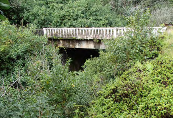 Hoalua Stream Bridge.  Photo credit: Hawaiʻi DOT, Highways Division.