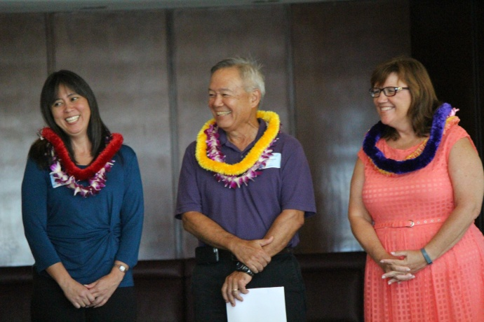 Installation of new officers at the 46th Annual MUW Meeting and Recognition Luncheon. Photo by Wendy Osher. (July 2, 2015)