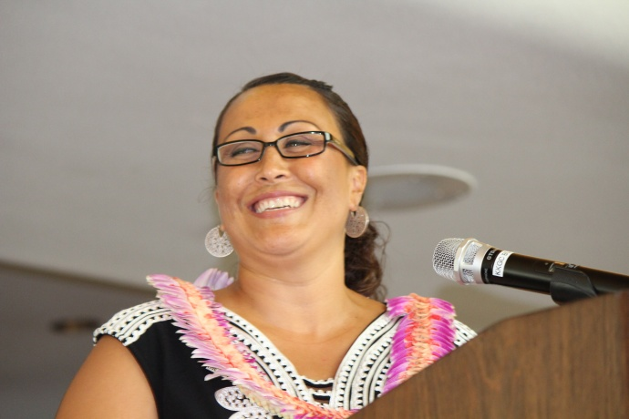 Laksmi Abraham, President and Chief Professional Officer for Maui United Way. Photo by Wendy Osher. (July 2, 2015)