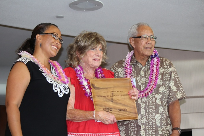 Maui Adult Day Care Centers was honored with the award for Partner Agency of the Year at the 46th Annual MUW Meeting and Recognition Luncheon. Photo by Wendy Osher. (July 2, 2015)