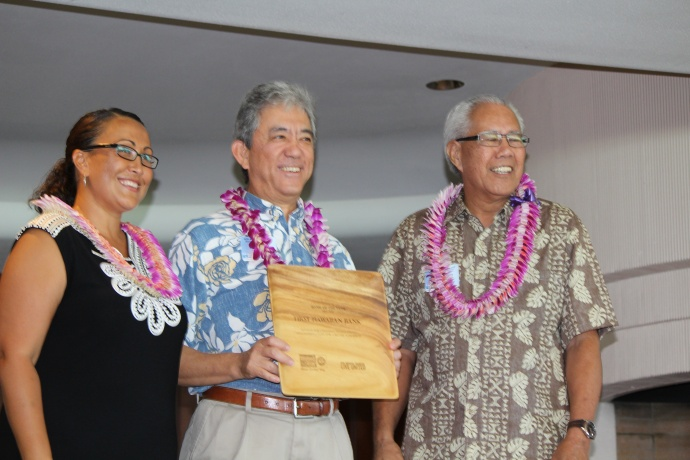First Hawaiian Bank was honored with the Bank of the Year award at the 46th Annual MUW Meeting and Recognition Luncheon. Photo by Wendy Osher. (July 2, 2015)