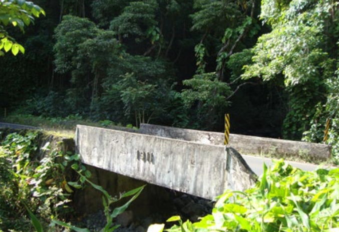 Kolea (Punalau Stream)  Bridge. Photo credit: Hawaiʻi DOT, Highways Division.