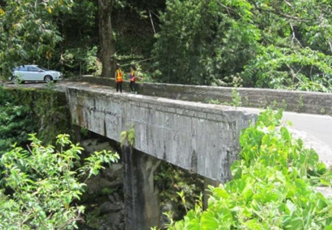 Waikamoi Stream Bridge. Photo credit: Hawaiʻi DOT, Highways Division.