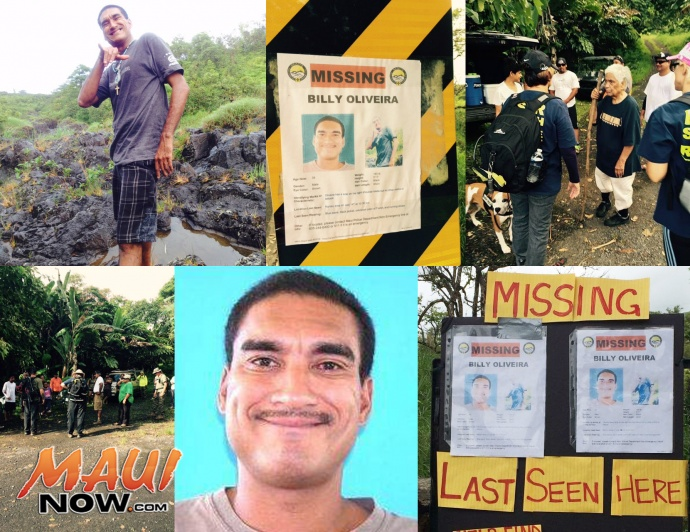 Billy Oliveira Search collage. Maui Now.