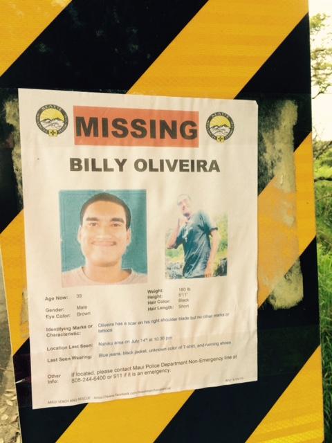Billy Oliveira search. Photo courtesy: Amy Yamada.