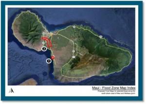Maui Flood Zone Map, courtesy County of Maui.