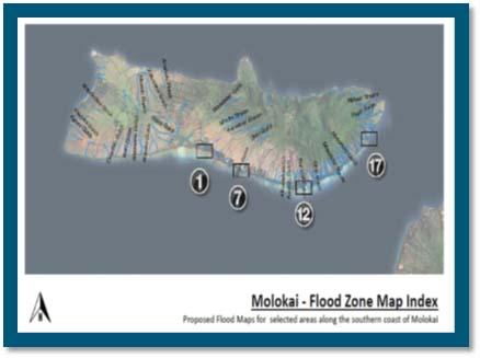 Molokaʻi Flood Zone Map, courtesy County of Maui.