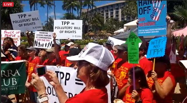 Stop TPP Maui Press Conference. Photo credit: Nicholas Garrett.