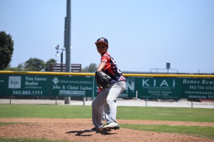 Jonah Richardson on the mound. Photo credit: Ashley Dando.