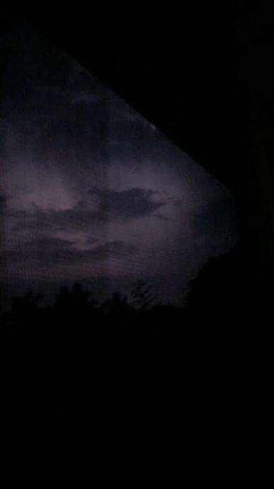Lightning over Maui, 8/22/15. Photo credit: Angeline Pascua.