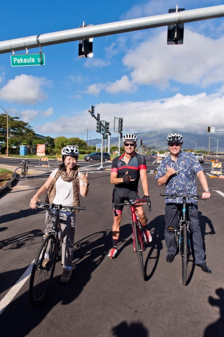Bike Ride on Airport Access Road. (8.4.2015) Photo credit: County of Maui.