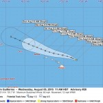 5 p.m. Update, Guillermo to Become Tropical Depression by Thursday Night