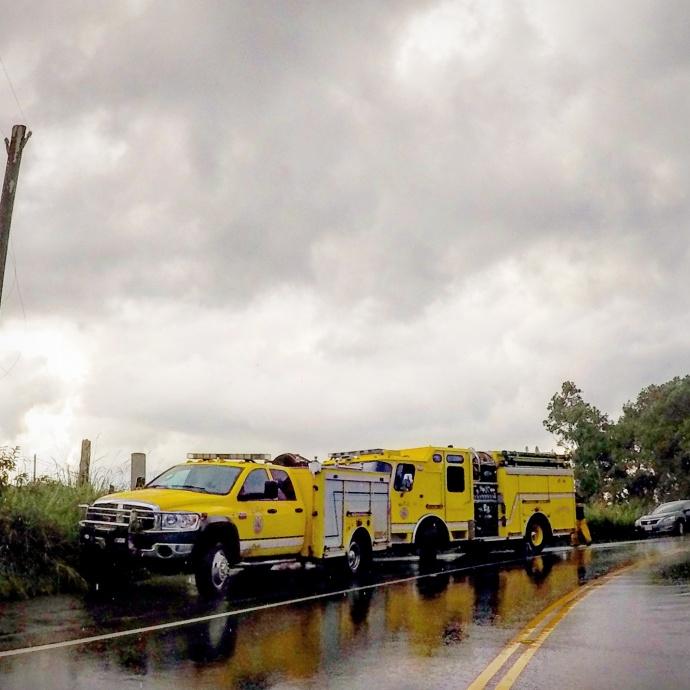 "Rescue in Kailua in the area often referred to as the ""Commando Hike."" 8/25/15. Photo credit: Jen Ferreira."