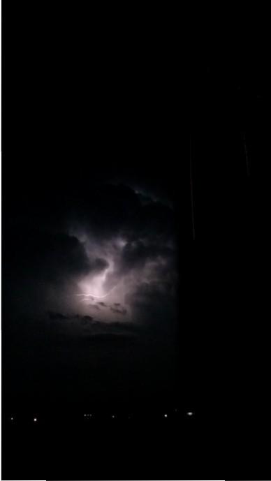 Wailuku lightning, 8/22/15. Photo credit: Bobbie Simko