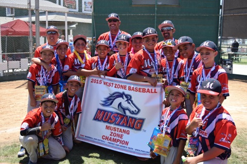 Maui Mustang team with champion banner. Photo credit: Ashley Dando.