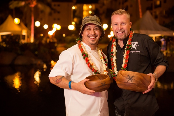 Chef Lyndon Honda and Mixologist Gabe Harvey. Photo credit: Jessica Pearl.