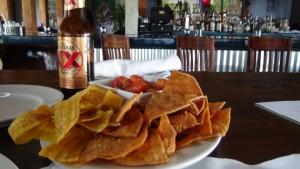 Plaintain Chips and Salsa at Joe's Nuevo Latino. Photo by Kiaora Bohlool.