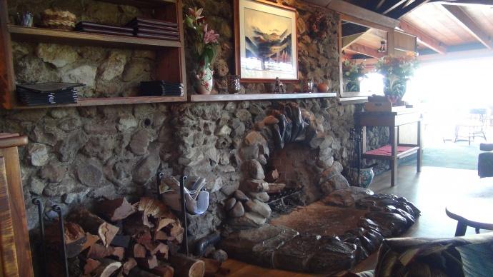 Kula Lodge fireplace. Photo credit: Kiaora Bohlool.