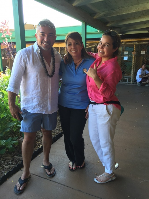 """""""Dog Whisperer"""" Cesar Millan toured the Maui Humane Society shelter on Maui yesterday. The well known dog behaviorist gained world recognition with his """" Dog Wisperer with Cesar Millan"""" television series that was broadcast in dozens of countries over eight seasons beginning in 2004."""