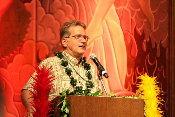Kepa Maly, Executive Director of Lāna'i Culture and Heritage Center. Photo by Wendy Osher.