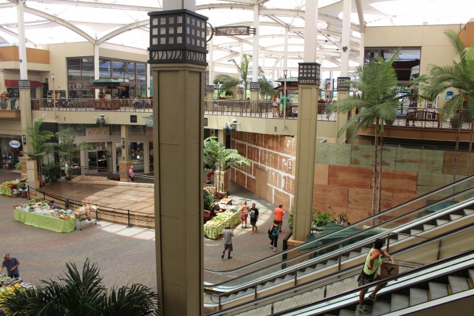 The home of the future Victoria's Secret Maui store will sit to the right and back of the center stage area. Photo by Wendy Osher.