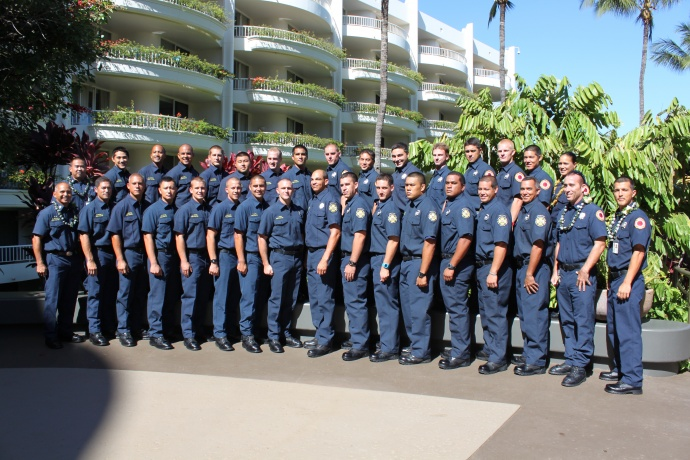 MFD 31st Recruit class.  Photo credit: Maui Department of Fire and Public Safety.