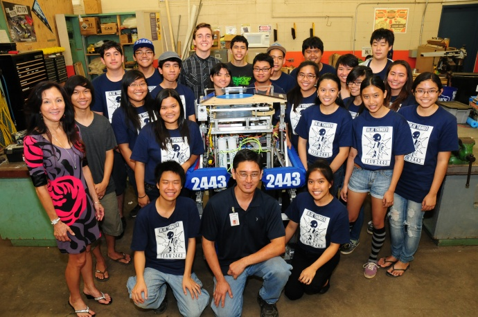 """With the support of donors like Monsanto, students in educational robotics like Maui High School's """"Blue Thunder"""" Team #2443 learn about engineering, computer programming, budgeting, technology and collaboration. Photo courtesy Monsanto Hawaii."""