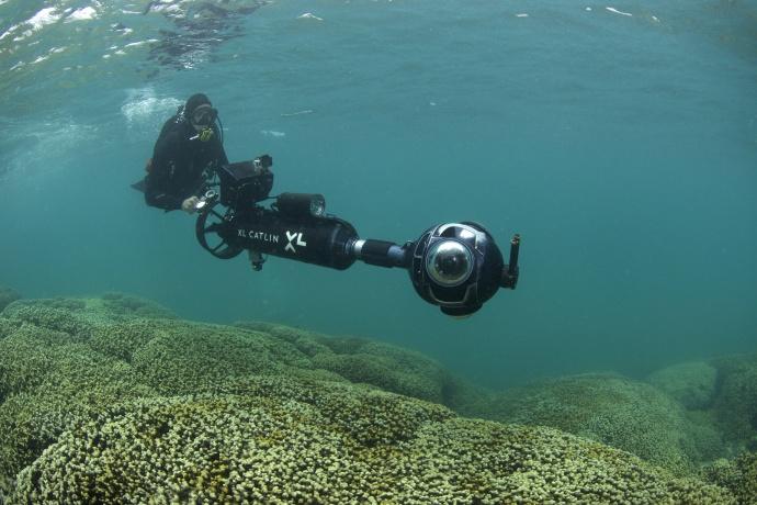 Manuel Gonzalez from the XL Catlin Seaview Survey. Photo credit: XL Catlin Seaview Survey