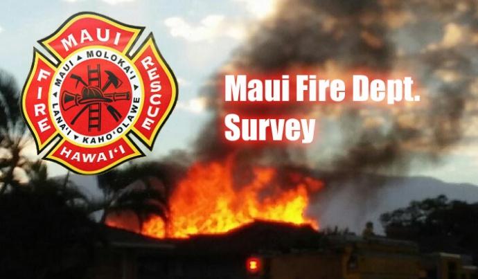 Maui Fire Department Survey. Maui Now graphic.
