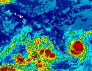 NWS satellite Hilda now Category 3 hurricane - 5 a.m. August 8 2015