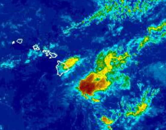 Image: NWS satellite 5 p.m. August 13, 2015