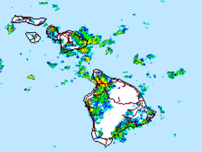 NWS radar at 6:45 p.m.