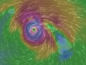 Wind Model via Windyty.com - August 24, 2015