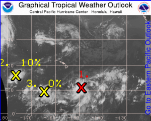 Image: CPHC Tropical Depression Three-C develops in Central Pacific
