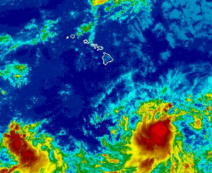 Image: NWS Satellite of Three-C at 8:45 a.m.