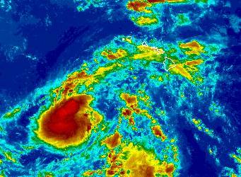 Kilo satellite imagery. 9 a.m. 8/23/15. Image credit: NOAA/NWS.