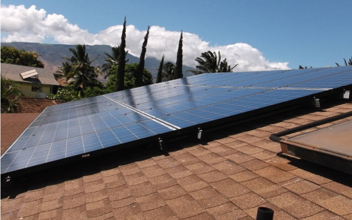 Solar installation by Maui Solar Project. Courtesy photo.