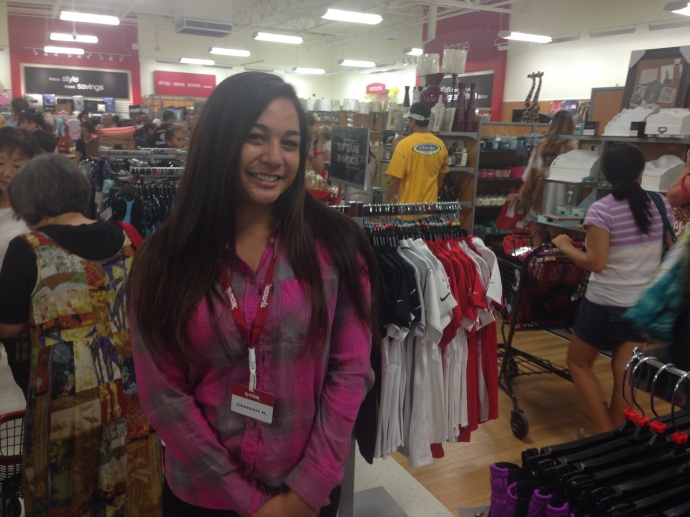 T.J. Maxx staff member Dianah Kapoi of Kahului said she got her new positionthroughthe store's job fair in July